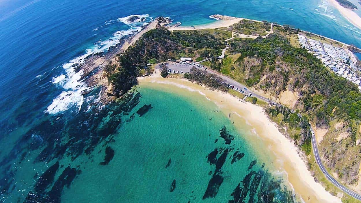 Drone Footage from Shelly Beach Nambucca Heads